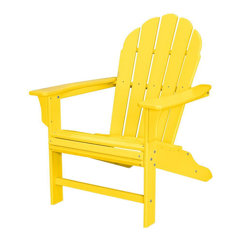 Trex Outdoor Furniture Hd Lemon Patio Adirondack Chair Txwa16le