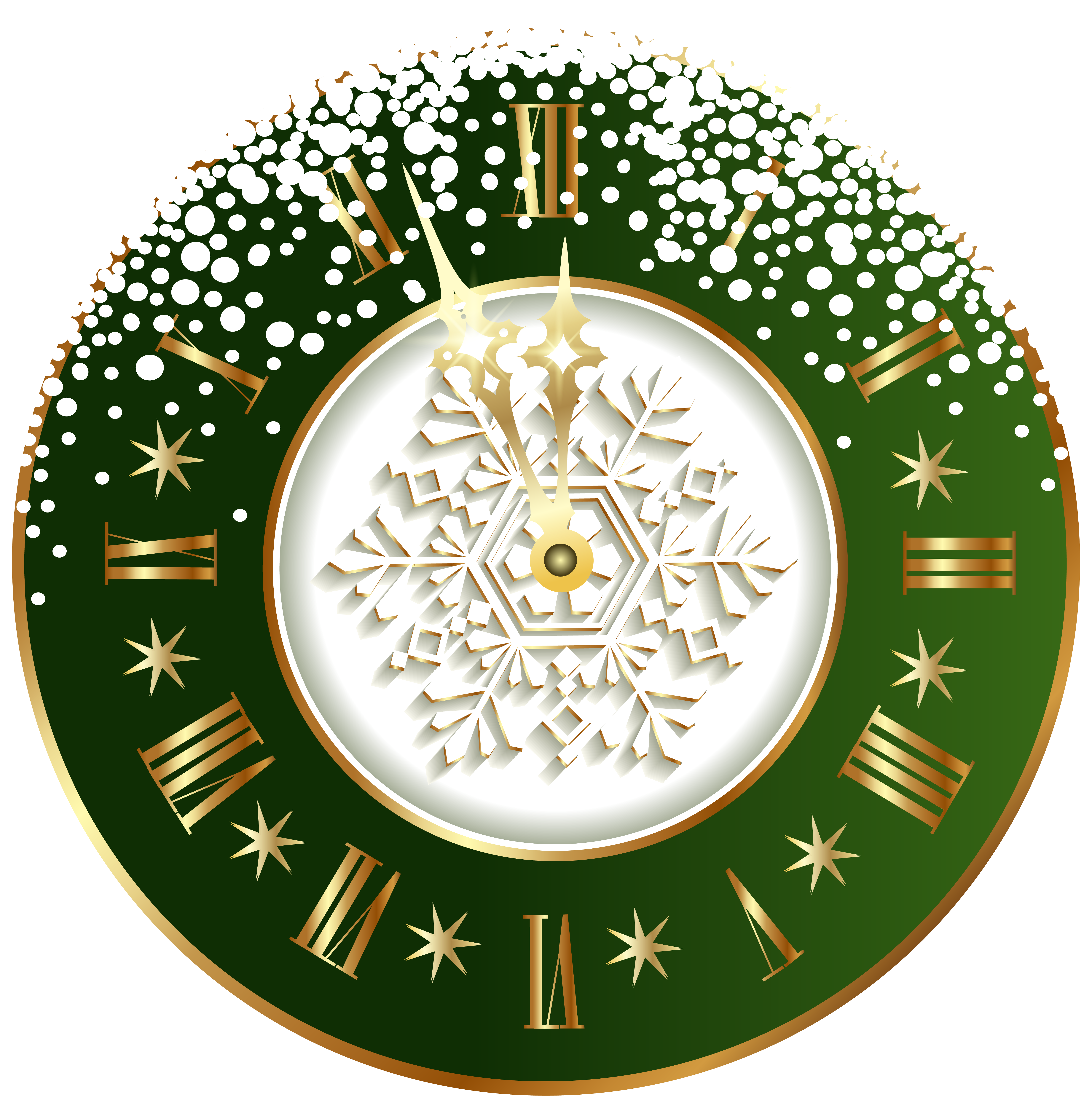 Green New Year Clock PNG Clipart Image (มีรูปภาพ)