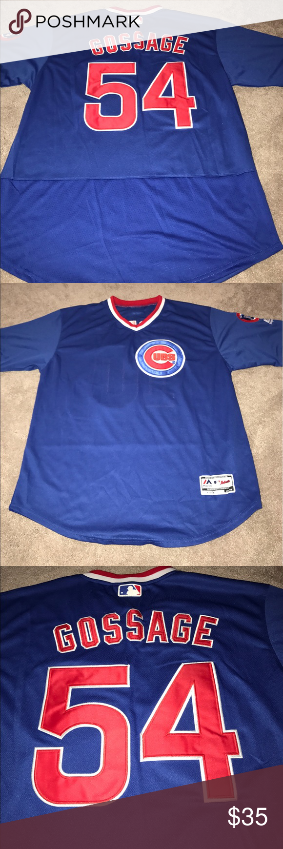 outlet store 63088 ae544 Cubs 1984 Goose Gossage Throwback jersey (L) Men's Chicago ...