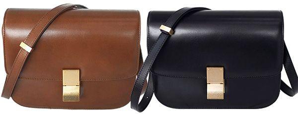 Unita Classic Box Bag in brown and black (Céline Box dupes)  052233402974d
