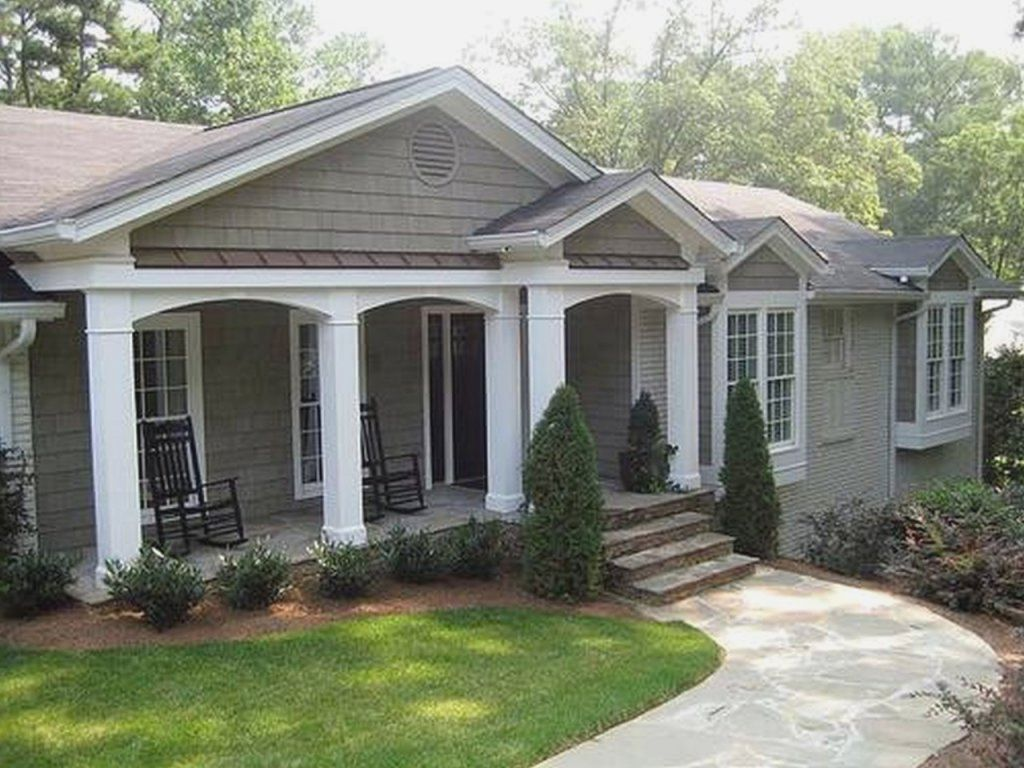 Front porches for ranch style homes modern home design for Ideas for covered back porch on single story ranch