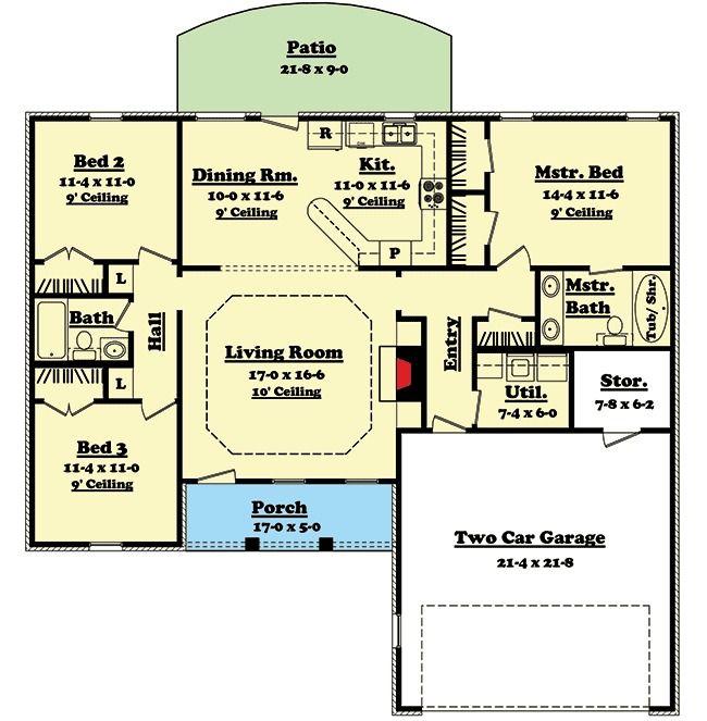 Plan 11701hz Split Bedroom Ranch Home Plan Ranch House Plans Open Floor House Plans Floor Plans Ranch
