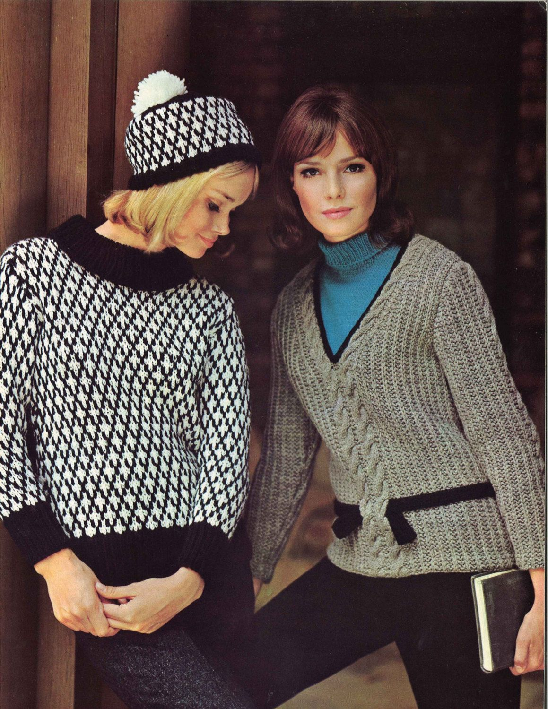 Black white grey 1960s vneck pullover sweater hat patterns black white grey 1960s vneck pullover sweater hat patterns 60s vintage fair bankloansurffo Choice Image