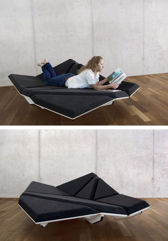 Convertible Fabric #sofa CAY LOUNGE By Structures | #design Alexander Rehn