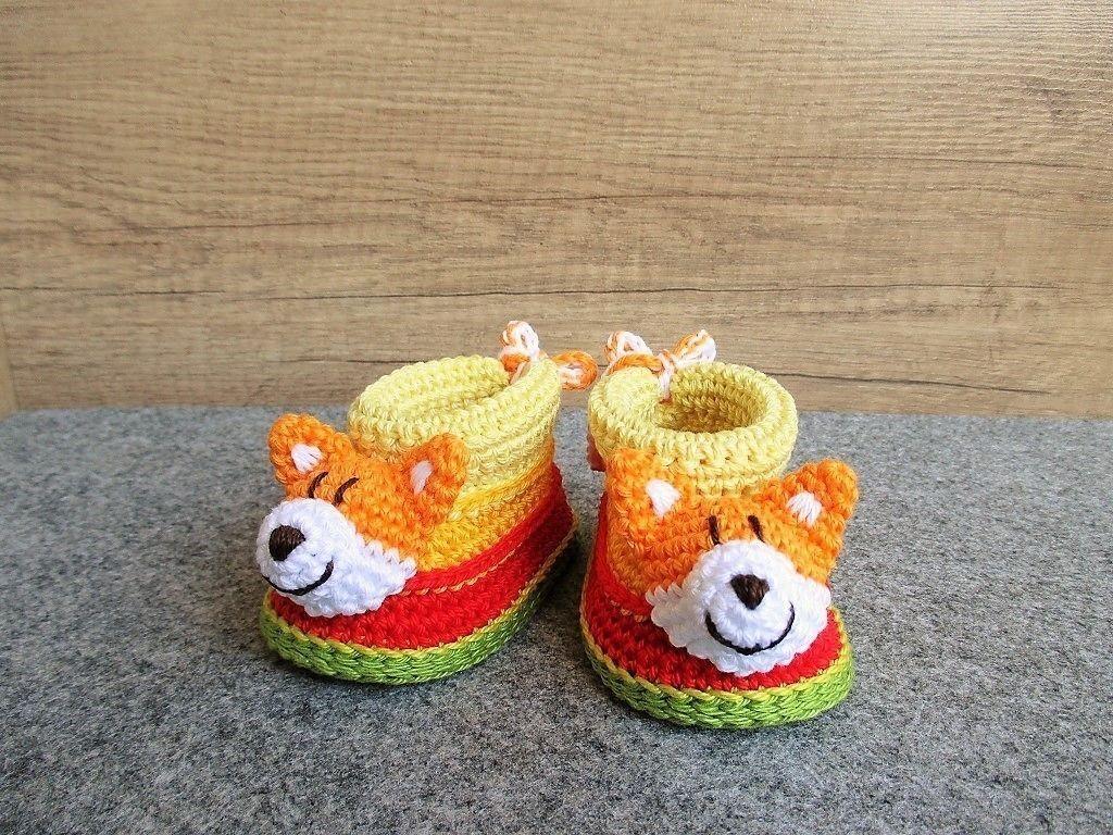 Baby-Booties Fuchs - Häkelanleitung | Parents