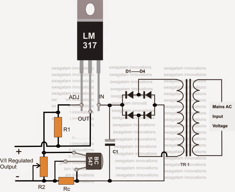 The post explains a simple LM317 current controlled 12V battery ...