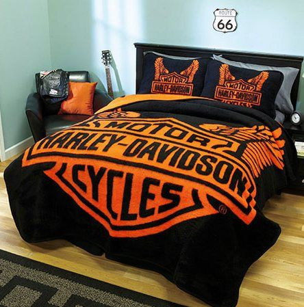 Harley Davidson Bedding Queen Ultra Soft Microfiber Easy Care And Wrinkle Resistant Harley Davidson Bedding Harley Davidson Decor Harley Davidson Clothing