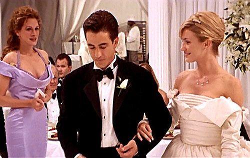 These Photos Prove That Cameron Diaz Made A Beautiful Bride Movie Wedding Dresses Wedding Movies Best Friend Wedding