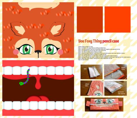 To cute!!----You Foxy Thing fabric by kfay on Spoonflower - custom fabric