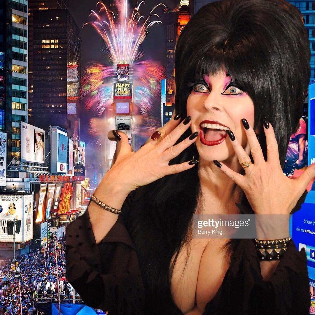 Happy New Year! 🎉 I hope in 2019, Elvira busts out....uh