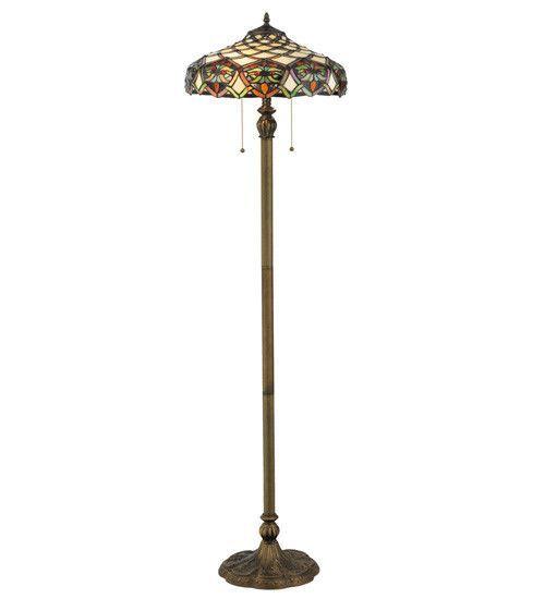 "60""H Franco Tiffany Nouveau Floor Lamp"
