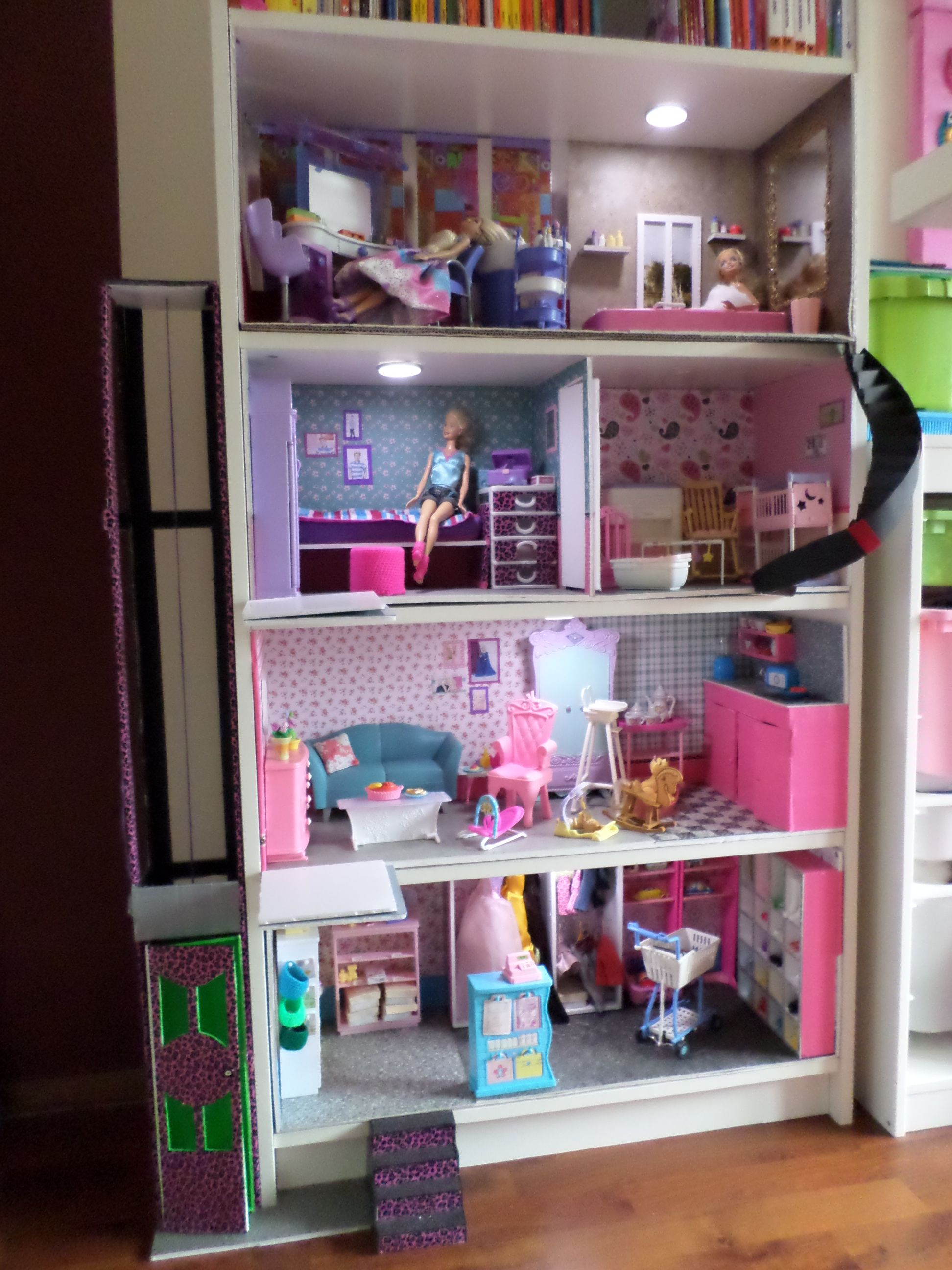 Pin By Kimberly Mcteer On Diy Dollhouse Pinterest Barbie House