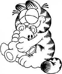 Dibujos Garfield Enamorado Colorear Gatos Gatos Para Pintar