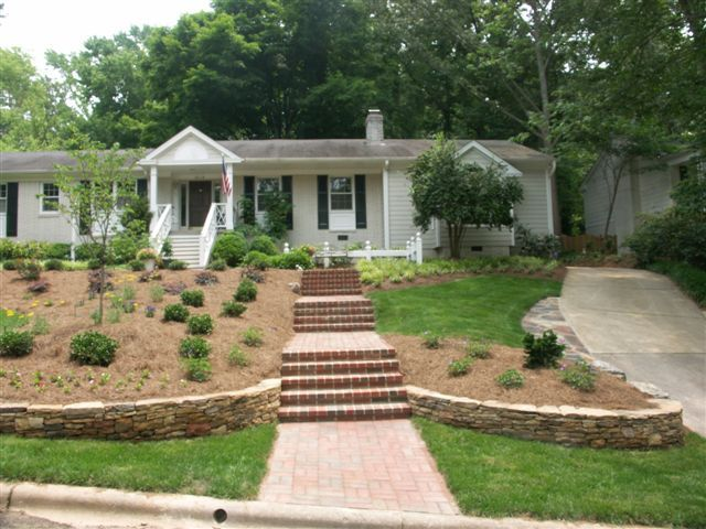 Ordinary Landscaping Ideas For Sloping Front Yard Part - 10: How To Create A Low Maintenance Landscape Front Yard Sloped Front Yard  Landscaping Ideas