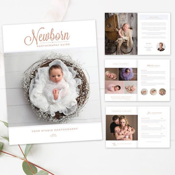 Newborn Photography Magazine Template - 10 pages - INDESIGN template - Photography Studio Magazine