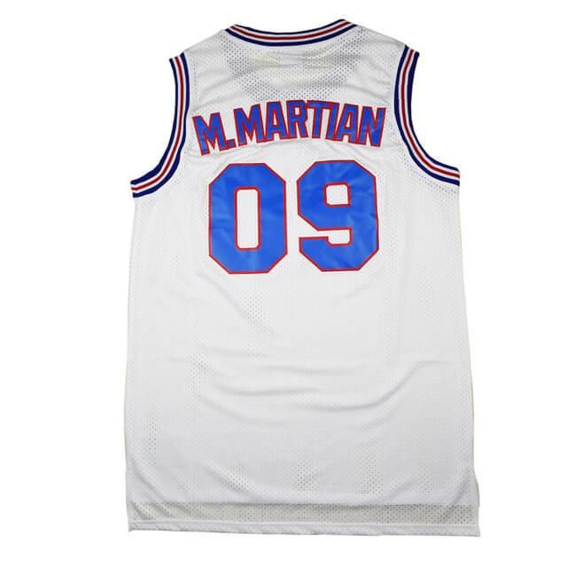 Tune Squad Jersey Marvin the Martian 09  Space Jam Movie White Basketball Sewn