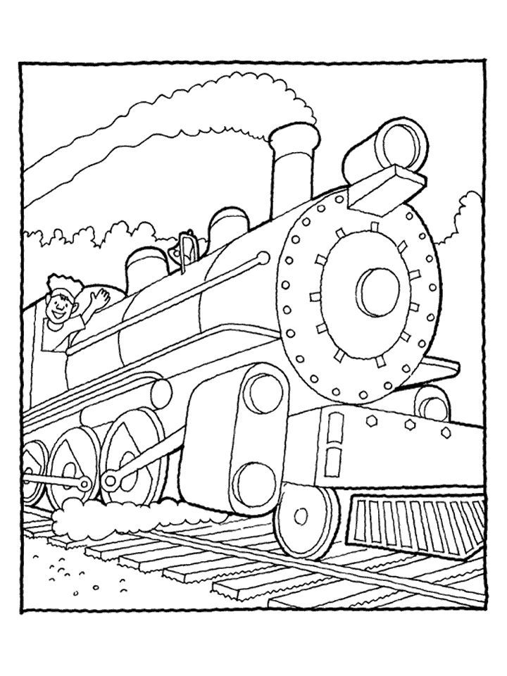 Diesel train coloring pages