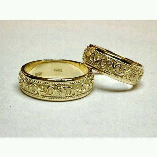 c489363abc11 Кольца ручной работы. Ярмарка Мастеров - ручная работа. Купить Обручальные  кольца. Handmade. Белое золото, желтое золото, платина