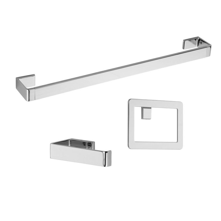 Contemporary Bathroom Hardware Accessories pfister btb-md3c 3-piece modern decorative bathroom hardware set