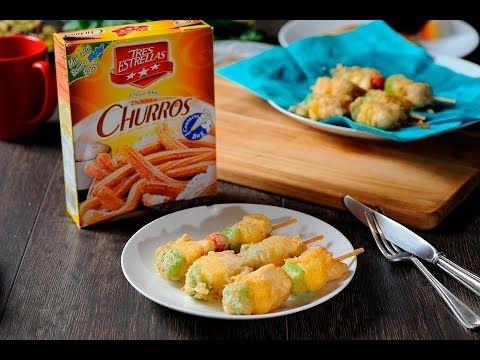 Brochetas de pollo rebozadas al estilo de Sonia Ortiz por Cocina al natural