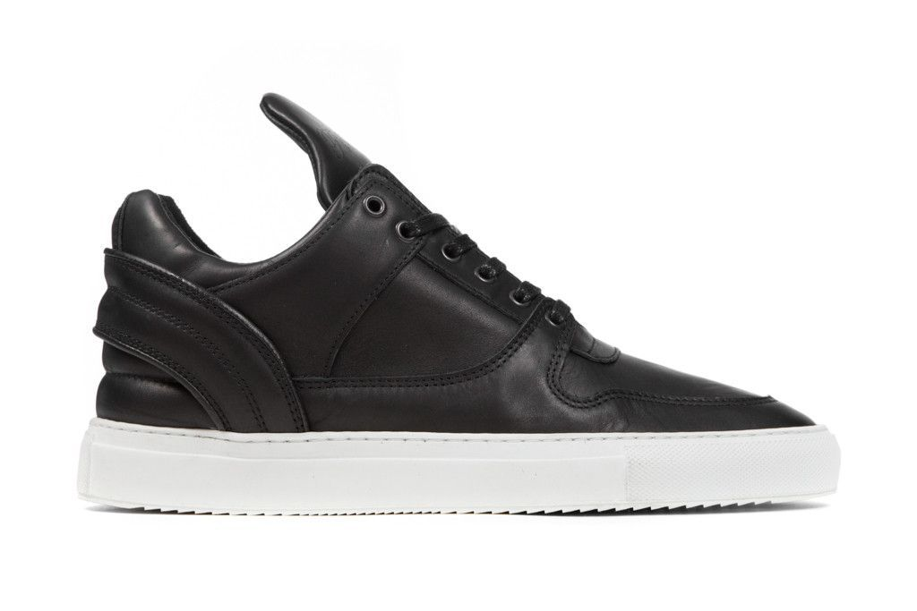 Filling Pieces Low Top Transformed Grain Leather - Black