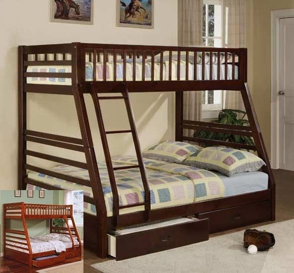 Canyon Twin Full Bunk Bed Bunk Beds With Storage Bunk Bed