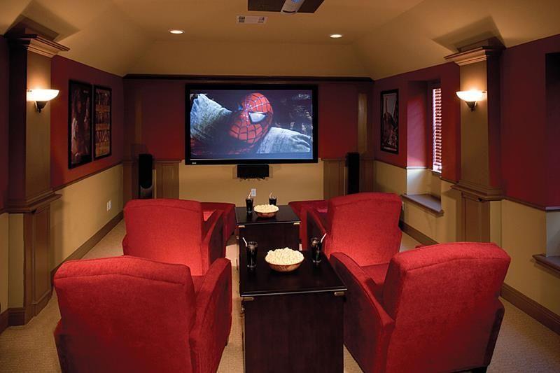 basement home theater ideas diy small spaces budget medium rh pinterest com Creating a Home Theater Room Custom Home Theater Rooms