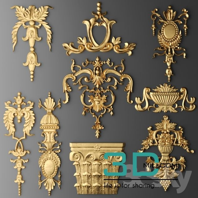 Awesome 12. Decorative Plaster 3D Model Free Download Download Here: Http://