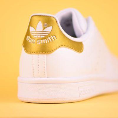 competitive price 78bed 32d12 BB0209 amorshoes-adidas-originals-stan-smith-blanca-logo-dorado-