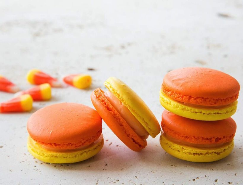 Candy Corn Macarons Recipe | Goop