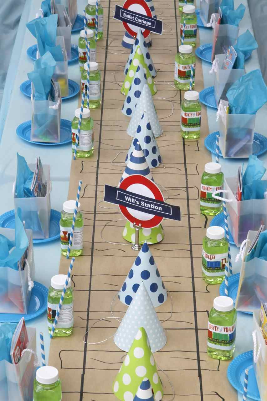 Train Track Party Table Runner Favors Decorations Trains Birthday