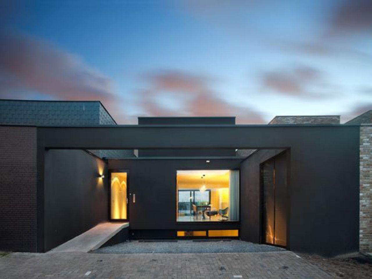 Modern House Plans Single Story Northwest Lake Modern Single Modern House Plans Facade House House Design