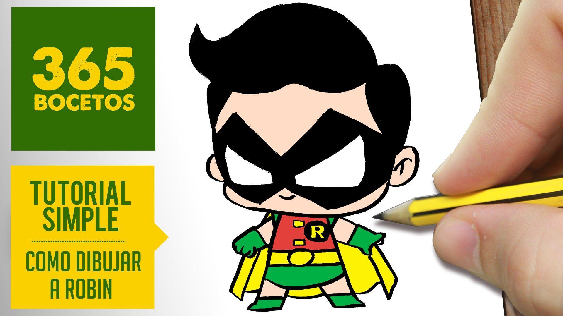 Como Dibujar A Robin Como Dibujos Kawaii Faciles Es El Tema De Nuestro Vídeo De Hoy How To Dra Dibujos Kawaii Faciles Dibujos Kawaii Dibujos De 365 Bocetos