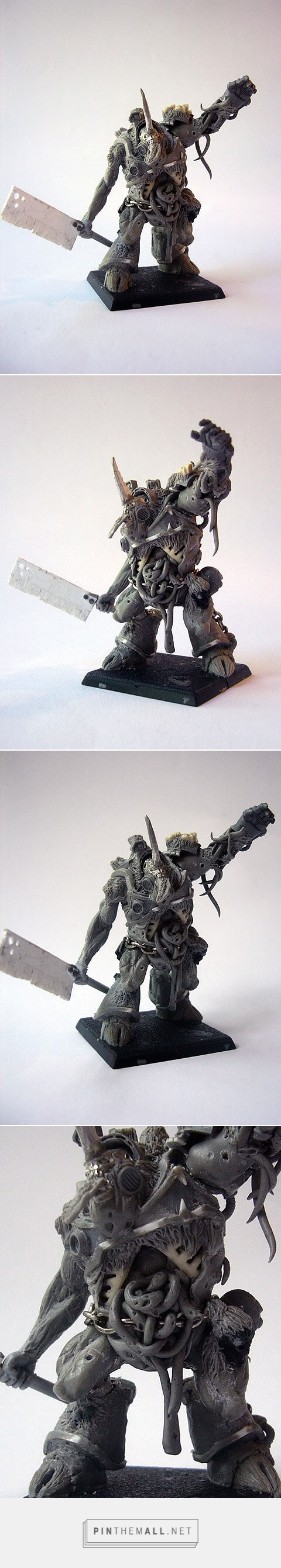::really well executed ideas::    Scratchbuilt Nurgle Daemon Prince and Plague Champion - + WORKS IN PROGRESS + - The Bolter and Chainsword - created via https://pinthemall.net