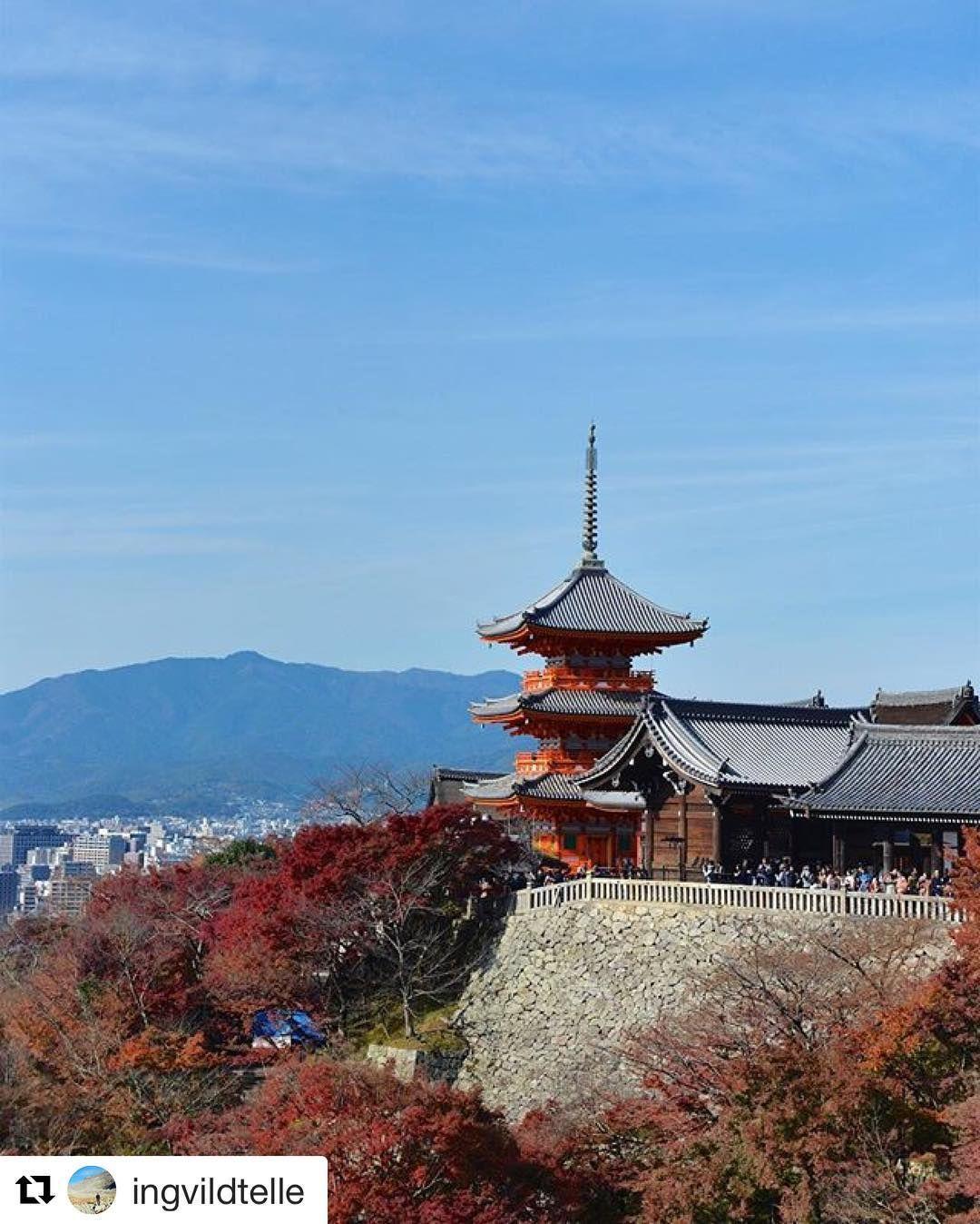 "Kiyomizu-Dera betyr ""pure water"" tempel og har over 1200 år historie bak seg. Det ligger i østre Kyoto. #reisetips #reiseliv #reiseblogger  #Repost @ingvildtelle with @repostapp  Three story pagoda in Kiyomizu-dera Temple Kyoto"