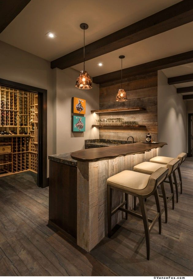 16 Awe-Inspiring Rustic Home Bars For An Unforgettable Party | Bar