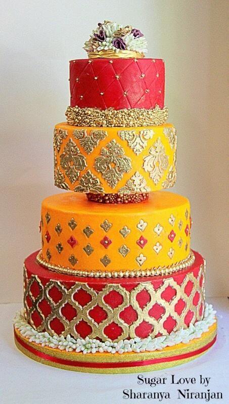 Indian wedding Cake SugarLove by JustNotTheCakes http