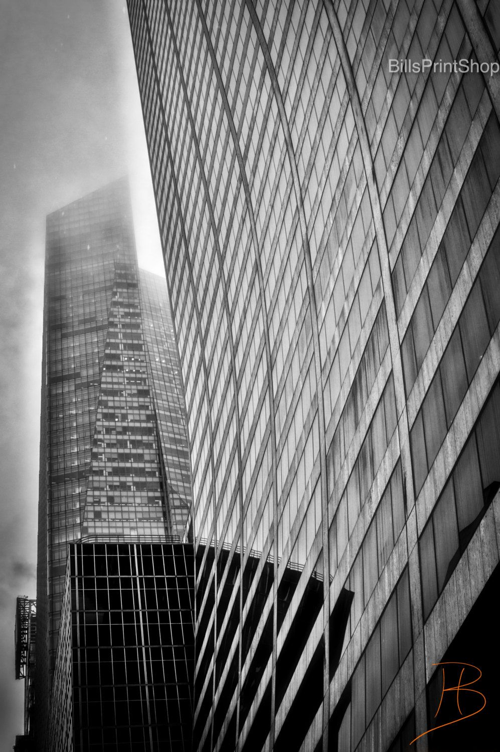 The grace building nyc photography black and white print