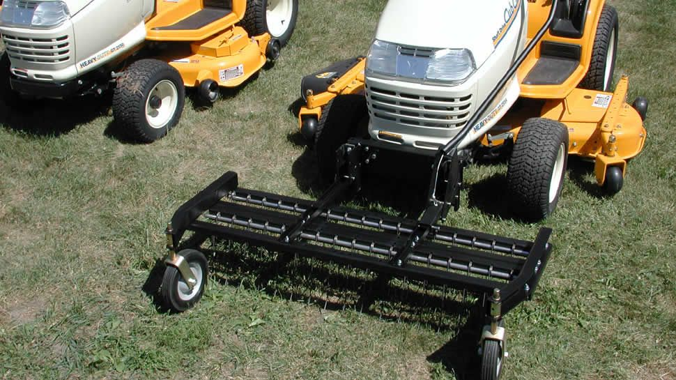 Pull Behind Rake For Lawn Tractor : Tow behind dethatcher inch the jrco tine rake