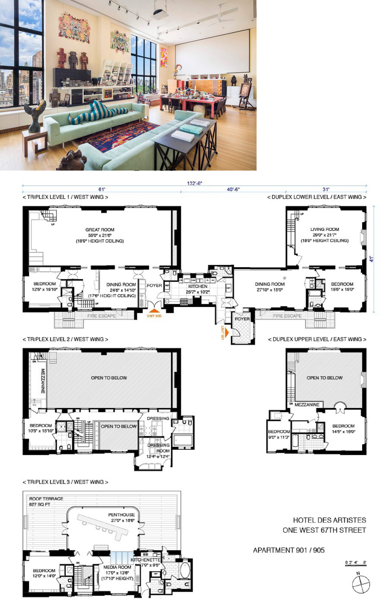 View Price Pictures And Listing Information For 1 West 67th Street Ph905 901 New York Ny 10023 Through A Combination Of Planta Baixa Arquitetura Urbanismo