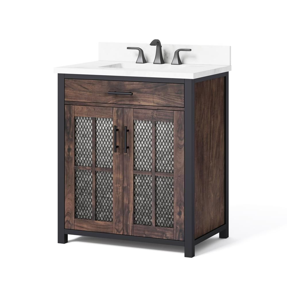 Drysdale 30 In Wx 34 5 In H Bath Vanity In Sable With Engineered