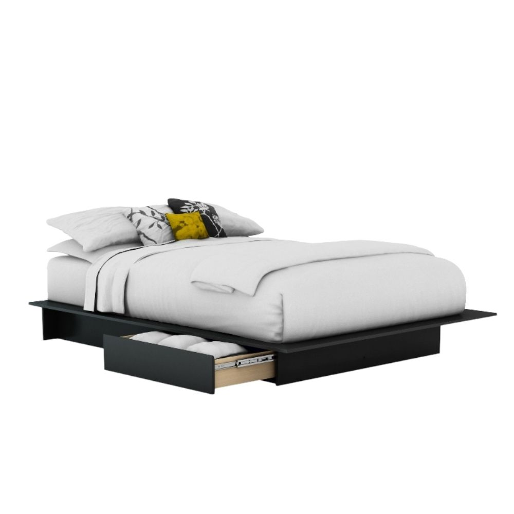 Base de cama South Shore Furniture Matrimonial Negra Mod. 3107217 ...