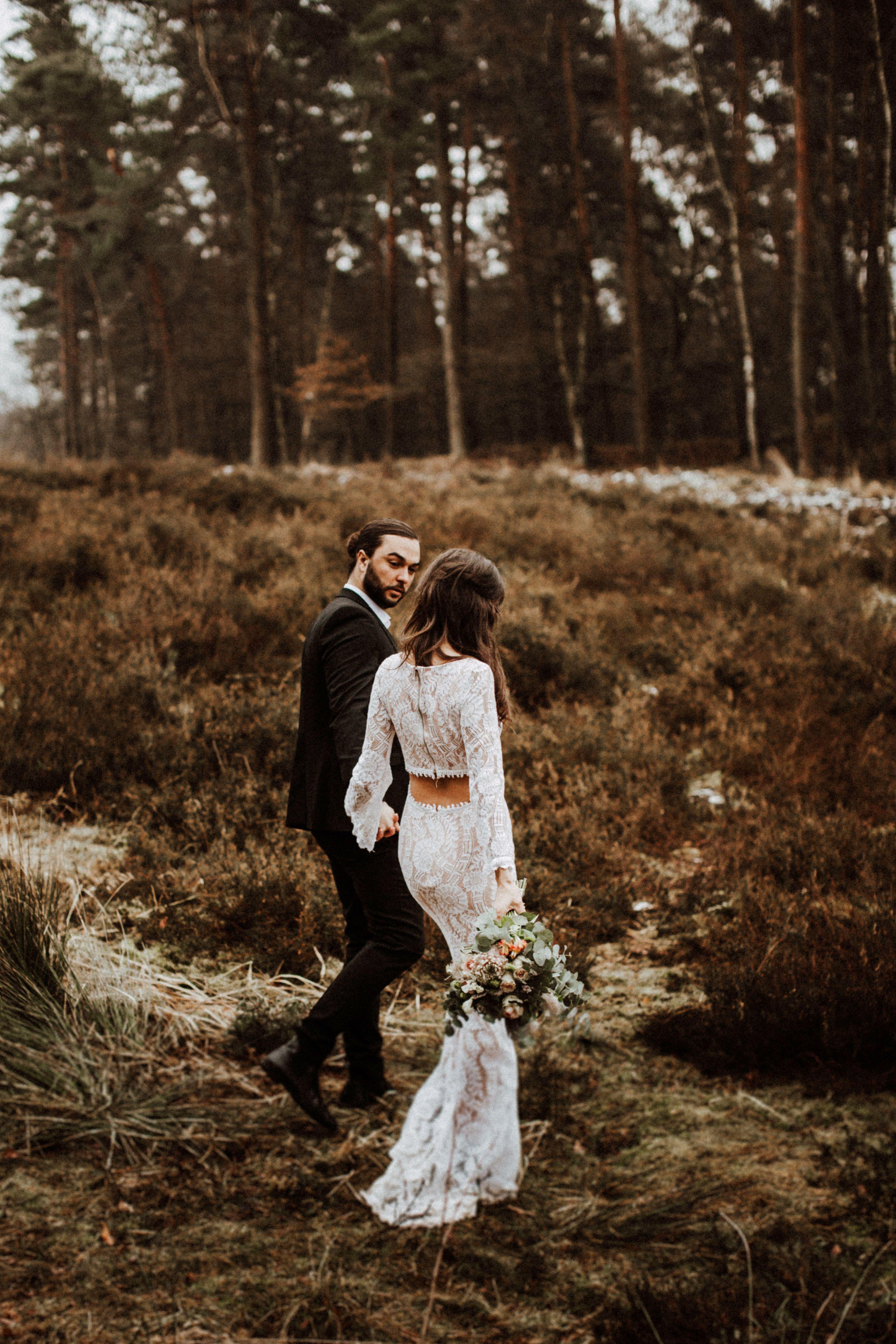 Brautpaar Shooting Boho Inspired Authentische