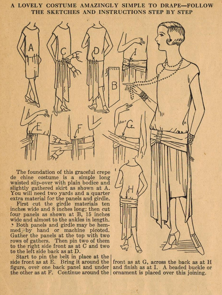 Home Sewing Tips from the 1920w - A Lovely Frock with Draping (The ...