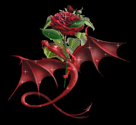 Sparkle Red Dragon With Rose Photo by Magickal_EMT | Photobucket s125.photobucket.com