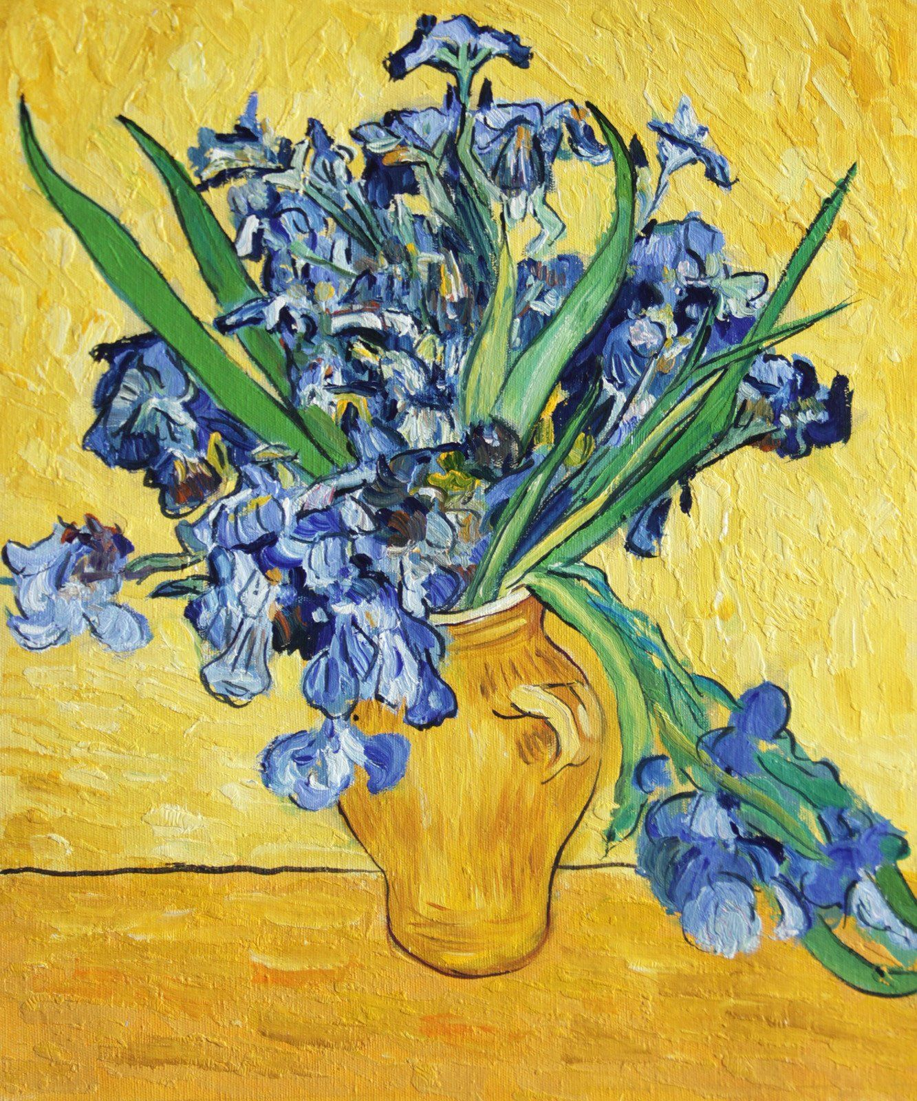 Vg14 still life with irises vincent van gogh repro oil painting on vg14 still life with irises vincent van gogh repro oil painting on canvas 20x24 reviewsmspy