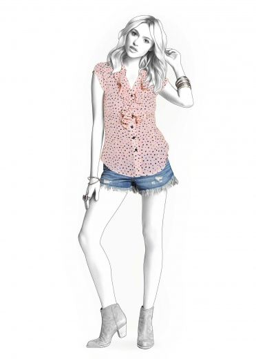 Bluse - Schnittmuster #4293 | Lekala patterns | Pinterest | Bluse ...