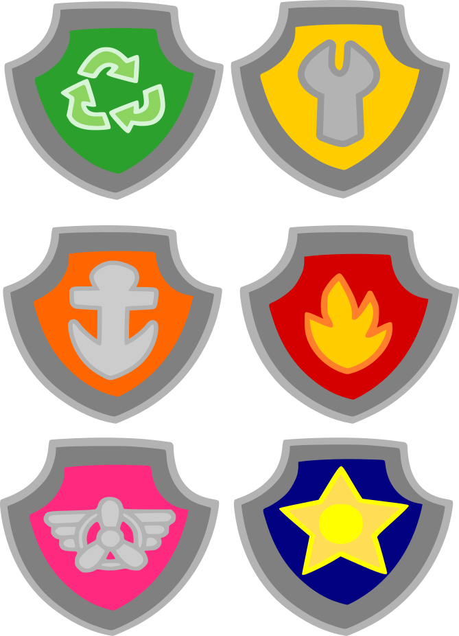 Crafting With Meek Paw Patrol Badges Cutting Files