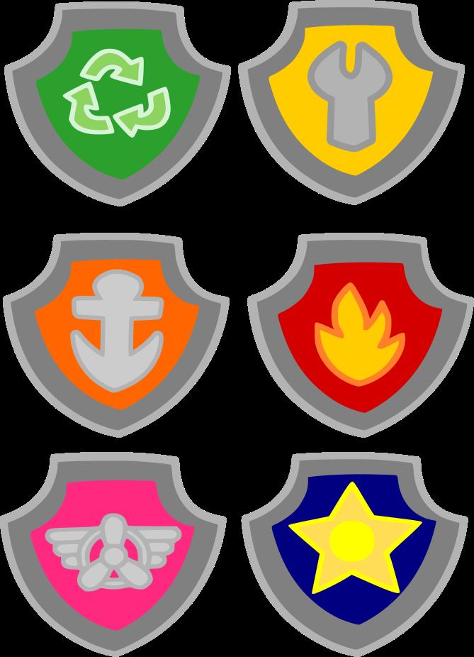 Paw Patrol Badge : patrol, badge, Patrol, Badges, Badge,, Birthday,, Birthday, Party