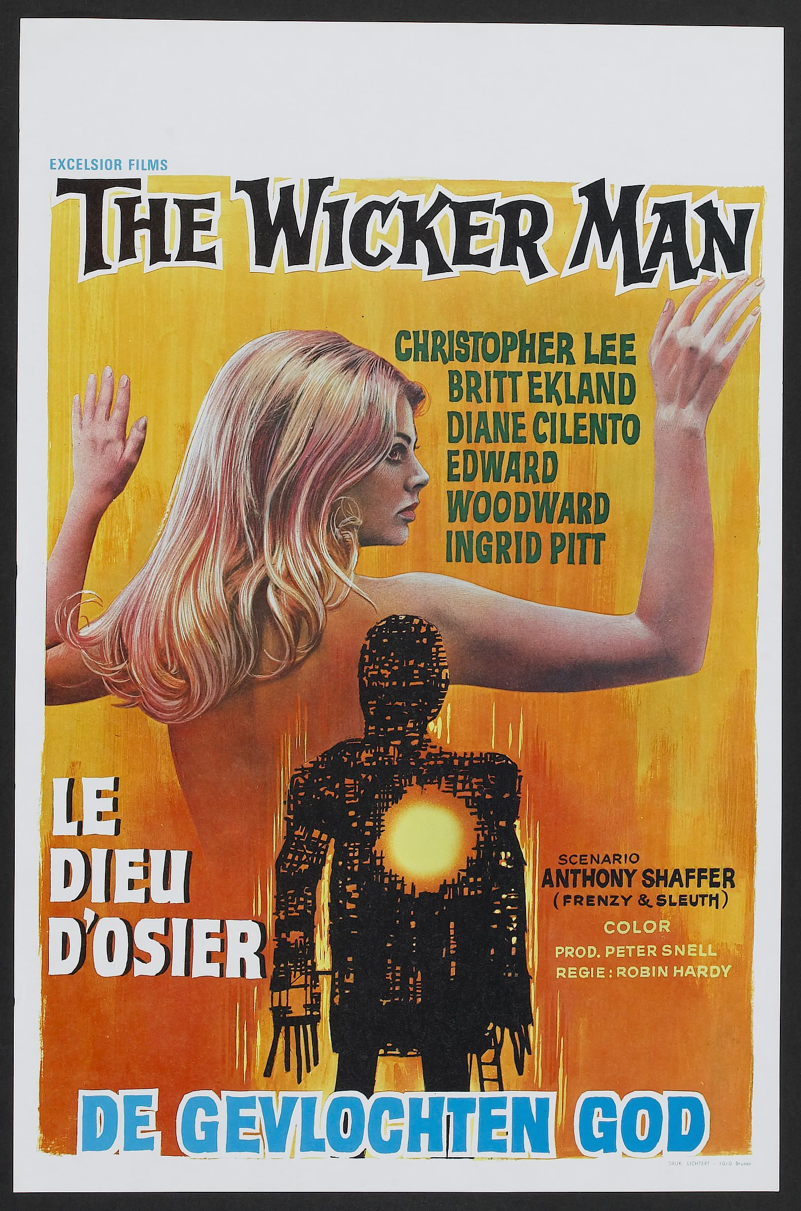 The Wicker Man Aka Le Dieu Dosier Belgian Poster 1973 Movies Art Print